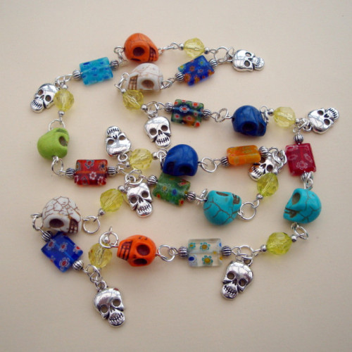 Mexican Day of the Dead inspired necklace CN077