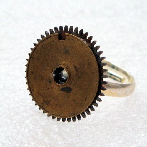 SR001 Steampunk watch cogs ring