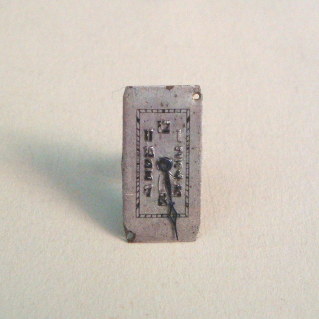 Steampunk vintage watch face earring SE024