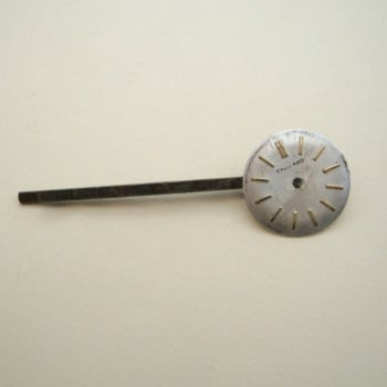 SP010 Steampunk vintage watch face hair grip / bobby pin