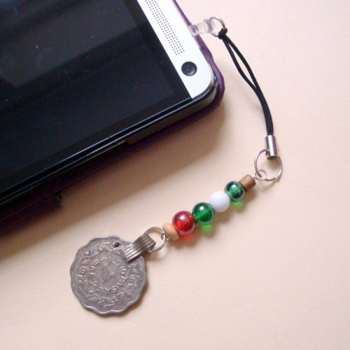 PPC003 Pirate Kuchi beads phone charm