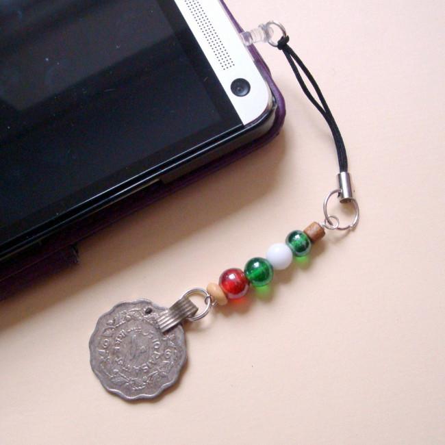 PPC003 Pirate Kuchi beads phone charm dust plug