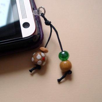 PPC009 Pirate beads phone charm dust plug