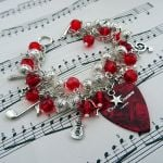 ccb059 plectrum bracelet red pic1