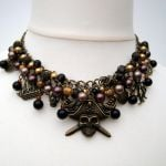 pn138 bronze pirate charm necklace