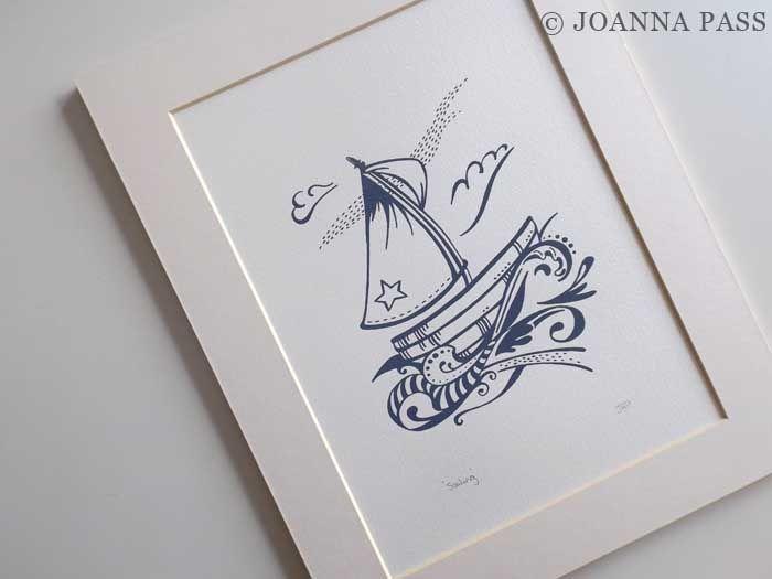 Sailing screenprint