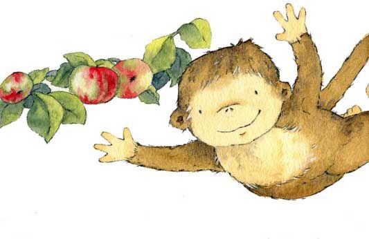Apple tree monkey