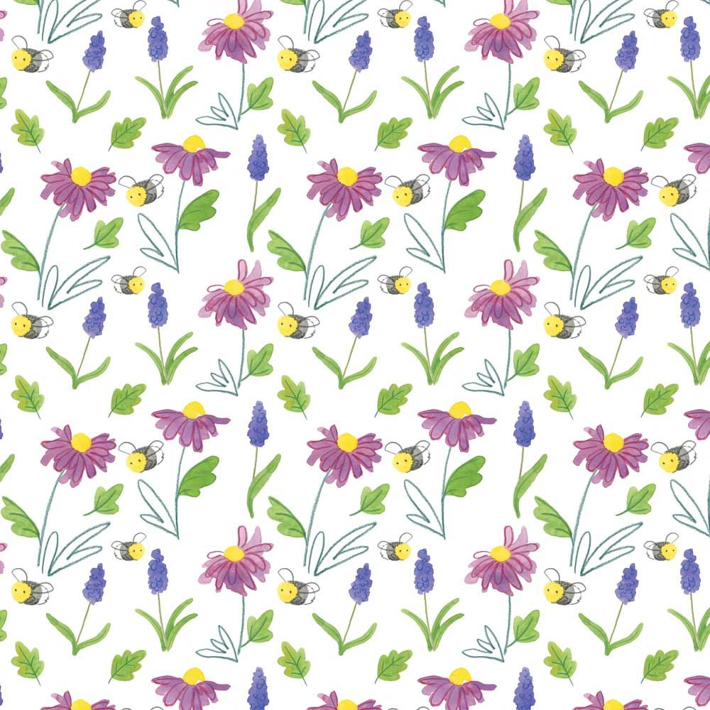 Flowers and Bees surface pattern