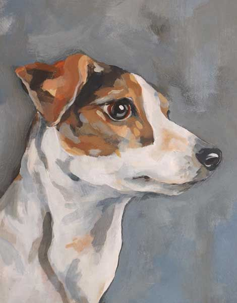Painting of Jack Russell