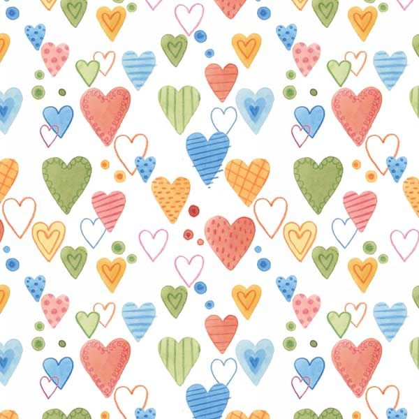 Hearts surface pattern