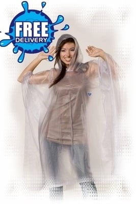 Adult Plain Re-Usable PVC Ponchos