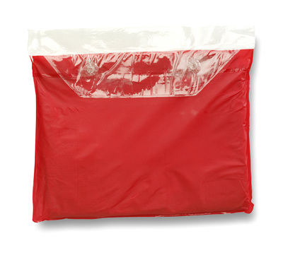 Red Adult Re-Usable PVC Ponchos