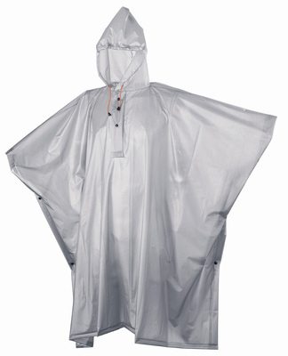 Adult Silver/Grey Re-Usable PVC Ponchos
