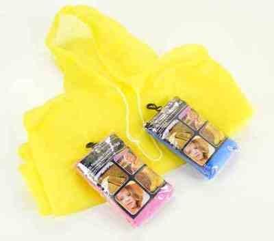 Child Yellow Re-Usable PVC Ponchos