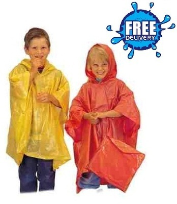 Child Plain Re-Usable PVC Ponchos