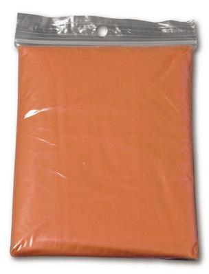 Child Orange Disposable Ponchos
