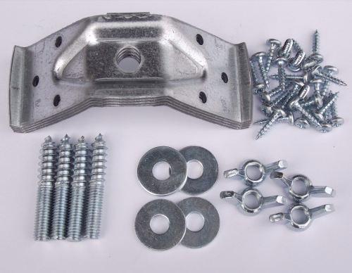 Set of 4 Table Corner Brackets, Fixings and Screws