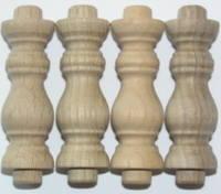 6. Hardwood Turnings - Legs & Feet