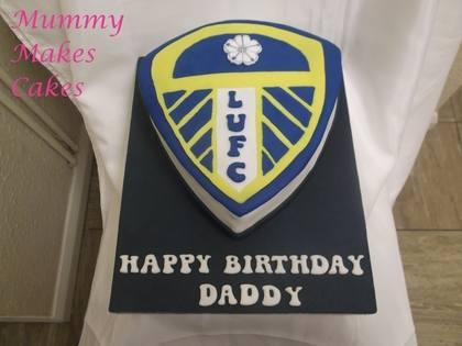 Leeds United Football Logo Cake