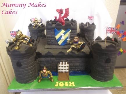 Knights Medieval Castle Cake