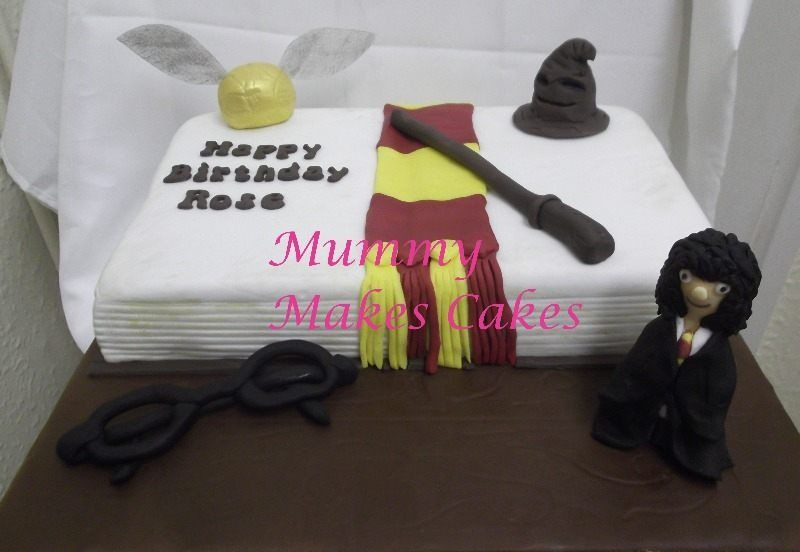 Harry Potter themed book cake