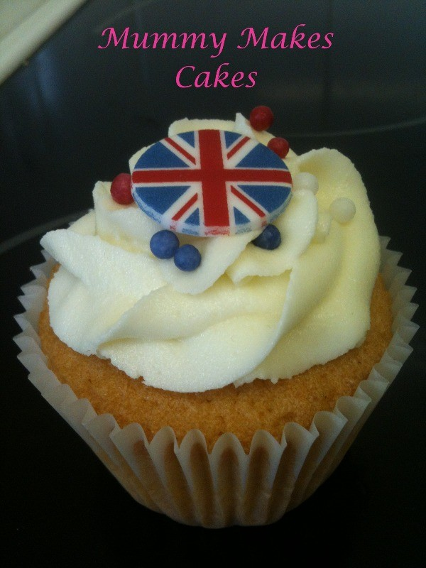 Olympic vanilla cupcake