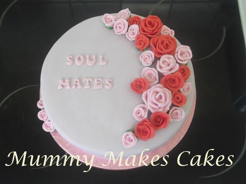 Roses Single wedding fruit cake