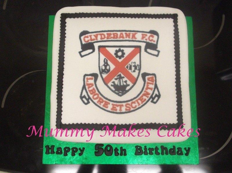 Clydebank FC Logo fruit cake