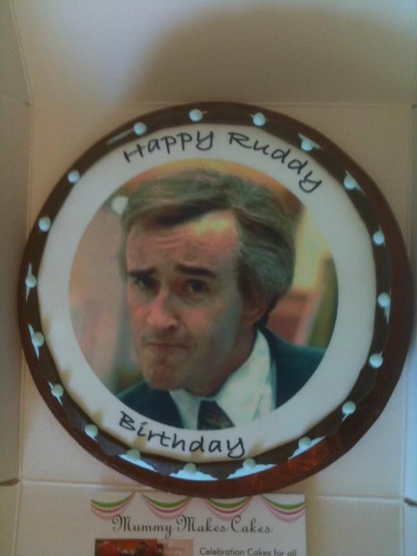 Alan Partridge topper cake