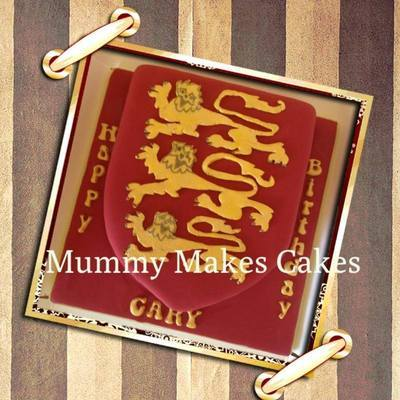 Three Lions Shield Cake