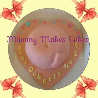 Gender Reveal Tummy Cake