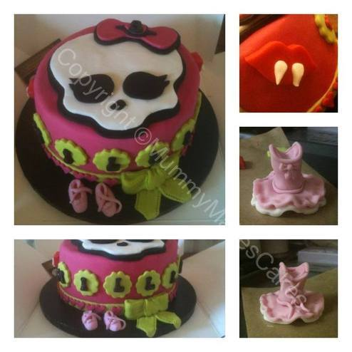 Monster High & Ballet themed cake