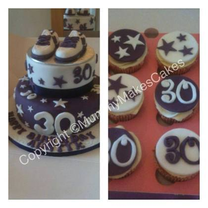 Trainer & Stars two tier cake