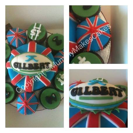 Union Jack, Rugby & Playstation themed cake