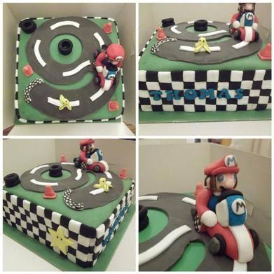 Mario Cart number 9 cake