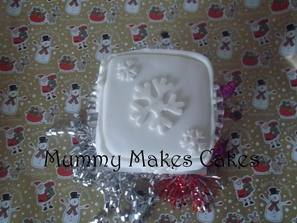 Christmas Snowflake Fruit Cake