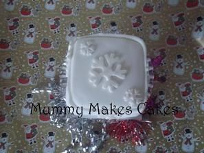 Christmas Snowflake Fruit Cake