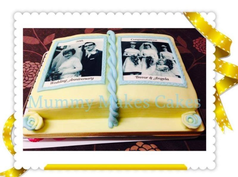 Wedding Album Book style cake