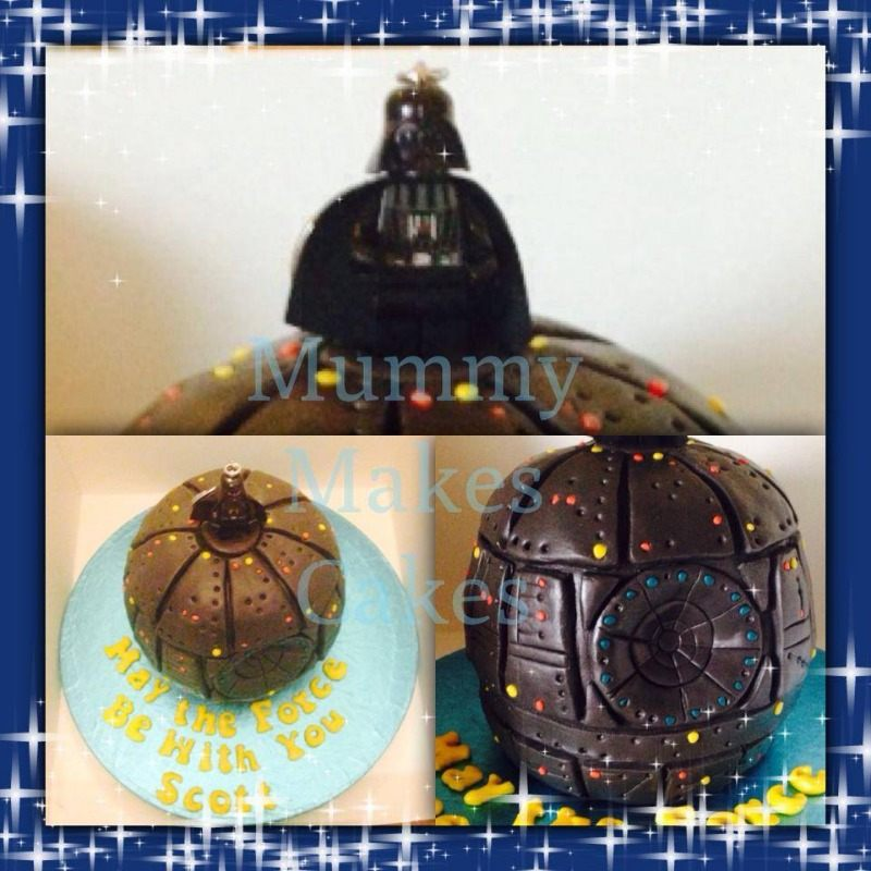 death star darth vader cake