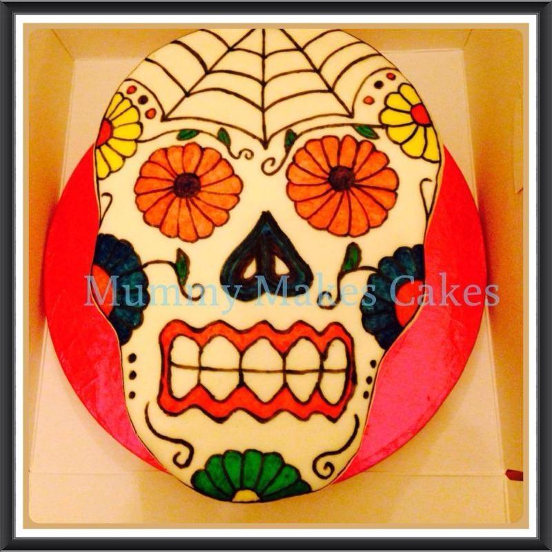 glam skull cake
