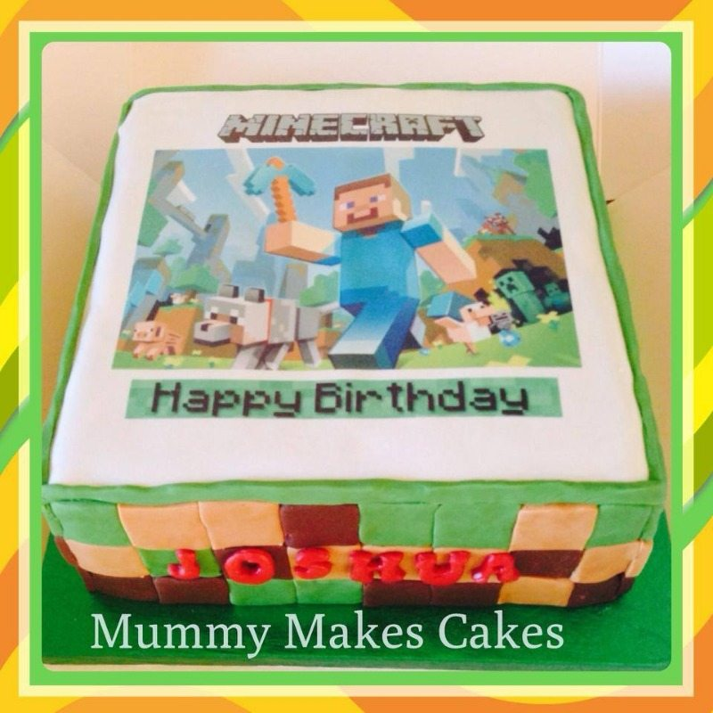 minecraft topper cake