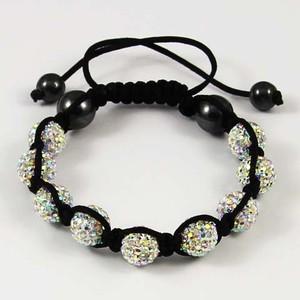 Shamballa Bracelet Clay Crystal 9 Disco Ball Beads *CHOOSE COLOUR*