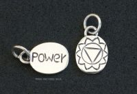 Power Hara Manipura Chakra Charm Sterling Silver