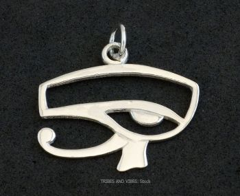 Eye of Horus / Ra Pendant, Sterling Silver