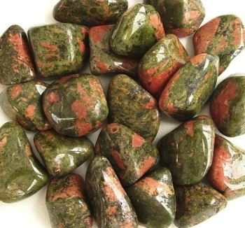 Unakite Crystal Tumbled Stones, 20-25mm