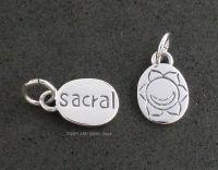 Sacral Svadisthana Chakra Charm Sterling Silver