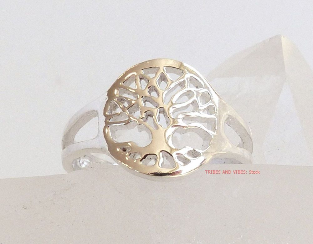Tree of Life Toe Midi Ring Sterling Silver (stock)