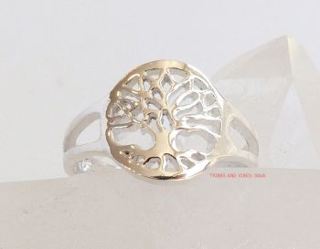 Tree of Life Toe Ring or Midi Sterling Silver
