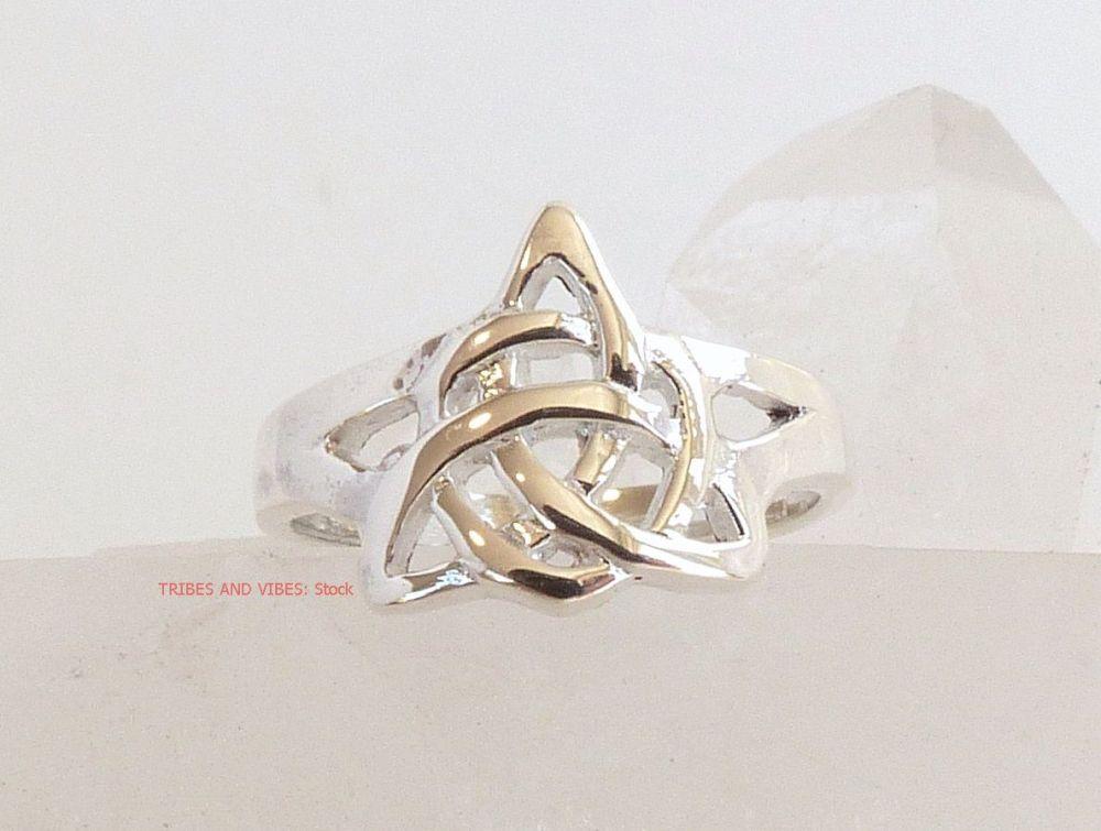 Celtic Triquetra Toe Midi Ring Sterling Silver (stock)