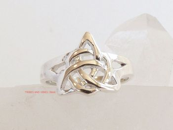 Triquetra Toe Ring or Midi Sterling Silver